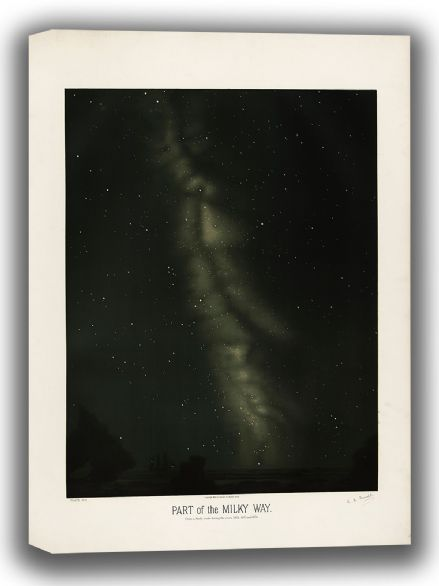 Trouvelot, Etienne Leopold: Part of the Milky Way. (The Trouvelot Astronomical Drawings, 1882). Astronomy/Space Canvas. Sizes: A4/A3/A2/A1 (00106)
